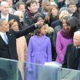 Barack Obama lors de son investiture au Capitole de Washington le 21 janvier 2013