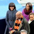 Michelle Obama lors de la cérémonie d'investiture de son mari Barack qui se tenait devant le Capitole de Washington le 21 janvier 2013