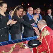 Stéphanie de Monaco, Pauline, Albert, Charlene, Pierre unis à l'heure des clowns