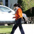 Selena Gomez, sans maquillage, sort de chez une amie à Studio City, le 22 janvier 2013.
