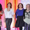 Lio, Camille Japy, Ariane Seguillon et Florence Thomassin lors de l'enregistrement de l'émission Vivement Dimanche, le 23 Janvier 2013