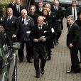 Le prince Philip, duc d'Edimbourg aux obsèques de sa nièce la princesse Margarita de Baden le 24 janvier 2013 en l'église orthodoxe de Serbie de l'ouest de Londres. La princesse est décédée le 15 janvier 2013 à 80 ans, dans le Surrey, des suites d'une longue maladie.