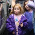 Sunday Urban, la fille de l'actrice Nicole Kidman et Keith Urban, rentre de l'école avec sa nounou à Los Angeles, le 24 janvier 2013.