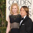 Nicole Kidman, Keith Urban à la 70e soirée des Golden Globe Awards à Beverly Hills, le 13 Janvier 2013.