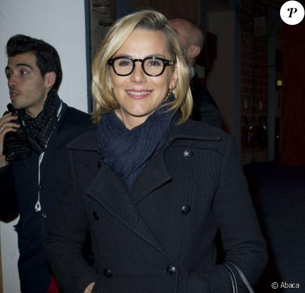 """Laurence Ferrari à la soirée """"Mariage pour tous"""" au Théâtre du Rond-Point, à Paris, le dimanche 27 janvier 2013."""