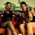 Eve et Alicia Keys dans le clip de Gangsta Lovin, extrait de l'album Eve-Olution d'Eve sorti en 2002.