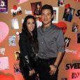 Mario Lopez et Courtney Mazza lors de la soirée SVEDKA Vodka à Los Angeles, le jeudi 31 janvier 2013.