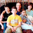 Greg LeMond en famille le 5 avril 2000 avec sa femme Kathy et ses enfants Geoffrey, Scott et Simone à Medina