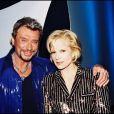 Johnny Hallyday et Sylvie Vartan à Paris le 14 octobre 1998.