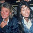 Adeline Blondieau et Johnny Hallyday à Paris, le 1er mars 1994.