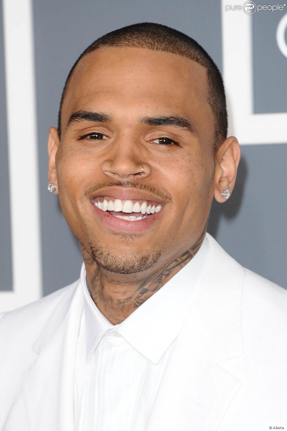 Chris Brown lors des 55e Grammy Awards au Staples Center. Los Angeles, le 10 février 2013.