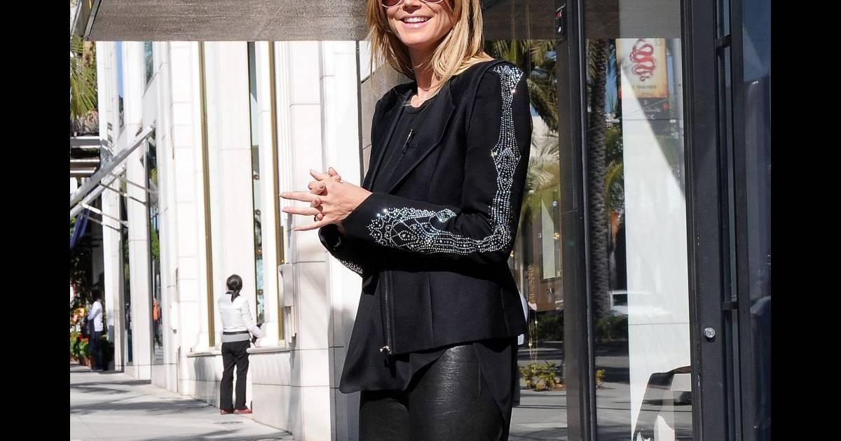 Heidi Klum sur le tournage de son émission Germany's Next Top Model à Beverly Hills le 12/02 ...