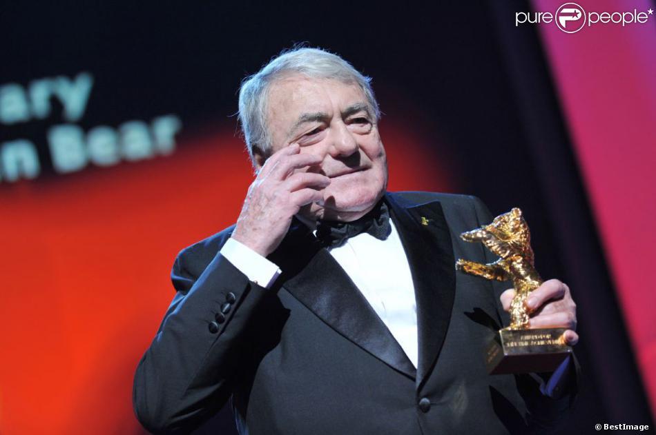 Les larmes de Claude Lanzmann (réalisateur de Shoah), honoré par un Ours d'or lors du 63eme Festival de Berlin, le 14 février 2013.