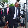 Kenny Oldwage, avocat d'Oscar Pistorius, quitte le tribunal d'instance de Pretoria après la première journée d'audience, le 19 février 2013.