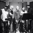 Les Backstreet Boys en studio pour leur nouvel album à paraître en 2013 à l'occasion des 20 ans du groupe. Photo tweetée par Kevin Richardson.