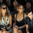 Ann Dexter-Jones, Lindsay Lohan et Samantha Ronson au premier rang du défilé de Charlotte Ronson, soeur de Samantha, lors de la fashion week à New York, 6 septembre 2008.