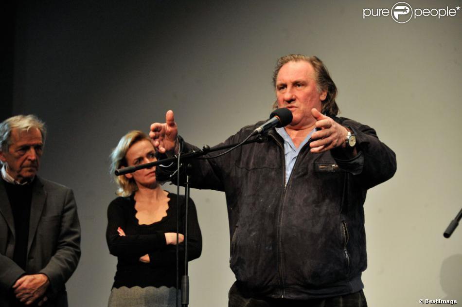 Gérard Depardieuau vernissage de l'exposition consacrée à Maurice Pialat à la Cinemathèque à Paris, le 18 février 2013.