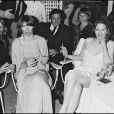 Charlotte Rampling, Faye Dunaway et Helmut Berger au Festival de Cannes, mai 1976.