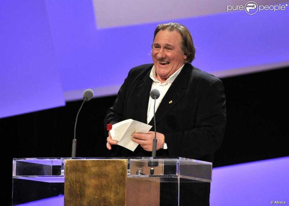 Gérard Depardieu lors des César 2010