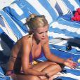 Katherine Jenkins en bikini en vacances à Miami le 7 février 2013.