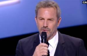 César 2013 : Kevin Costner honoré devant sa femme en larmes... puis endormi