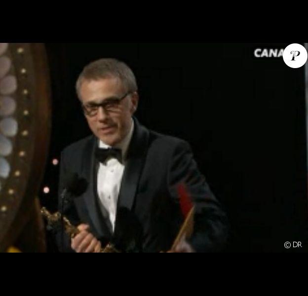 Christoph Waltz et son Oscar du meilleur acteur dans un second rôle (2013) pour Django Unchained