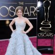 Amy Adams dans une robe Oscar de la Renta lors des Oscars. Los Angeles, le 24 février 2013.