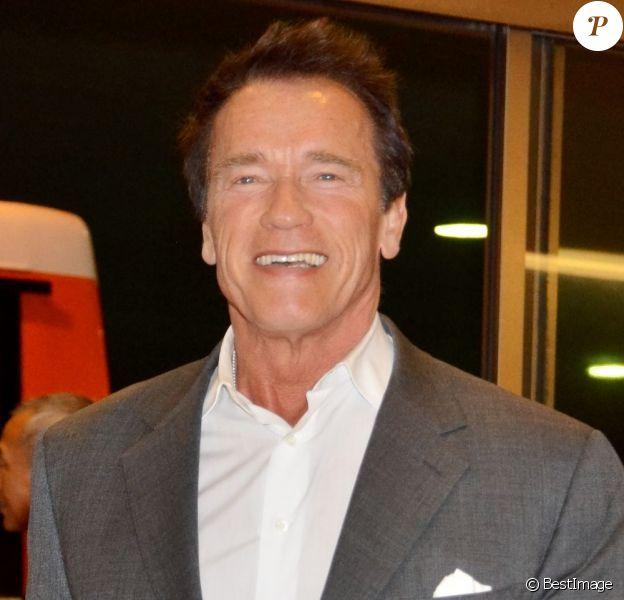 Arnold Schwarzenegger arrive a l'aéroport Narita au Japon, le 20 février 2013.