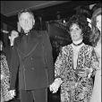 Richard Burton et Elizabeth Taylor en 1972 à Paris lors d'un concert de Liza Minnelli