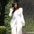 Kim Kardashian, enceinte, quitte sa maison à Los Angeles pour rejoindre l'aéroport. Le 2 mars 2013.