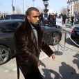"""Kanye West - Arrivees - People - Defile de mode Pret-a-Porter Automne-Hiver 2013/2014 """" Celine """" a Paris Le 03 Mars 2013  """" Celine """" fashion show ready-to-wear A/W 2013/2014 during the fashion week in Paris. On March 3 201303/03/2013 - Paris"""
