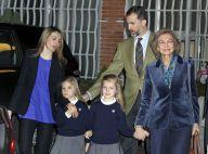 Letizia et Felipe d'Espagne: Avec leurs adorables princesses au chevet du roi