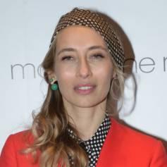 Exclusif - Alexandra Golovanoff assiste à la soirée de lancement de la collection joaillère Carbone de Balmain au Montaigne Market. Paris, le 1er mars 2013.