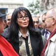 Yamina Benguiguià l'inauguration du square Danielle Mitterrand au 20 rue de Bievre à Paris le 8 mars 2013.