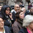 Yamina Benguigui et Harlem Desirà l'inauguration du square Danielle Mitterrand au 20 rue de Bievre à Paris le 8 mars 2013.