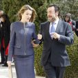 La princesse Laetizia accueillie comme il se doit pour assister à la remise des Prix Discapnet de la Fondation ONCE à Madrid, le 11 mars 2013.