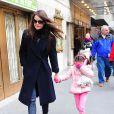 Katie Holmes et sa fille Suri dans les rues de New York, le 2 janvier 2013