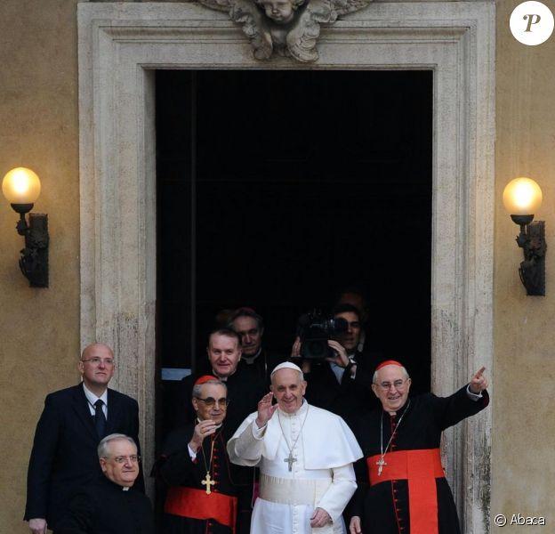 Le pape François lors d'une visite à Rome, le 14 mars 2013.