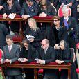 Messe d'inauguration du pape François au Vatican, sur la place Saint-Pierre, le 19 mars 2013, en présence de dignitaires de 132 états, dont nombre de figures royales, telles que le prince Albert et la princesse Charlene de Monaco, le prince Felipe et la princesse Letizia d'Espagne, le prince Willem-Alexander et la princesse Maxima des Pays-Bas, le roi Albert II et la reine Paola de Belgique...