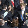 Le pape François célébrait la messe inaugurale de son pontificat au Vatican, sur la place Saint-Pierre, le 19 mars 2013, en présence de dignitaires de 132 états, dont nombre de figures royales, telles que le prince Albert et la princesse Charlene de Monaco, le prince Felipe et la princesse Letizia d'Espagne, le prince Willem-Alexander et la princesse Maxima des Pays-Bas, le roi Albert II et la reine Paola de Belgique...