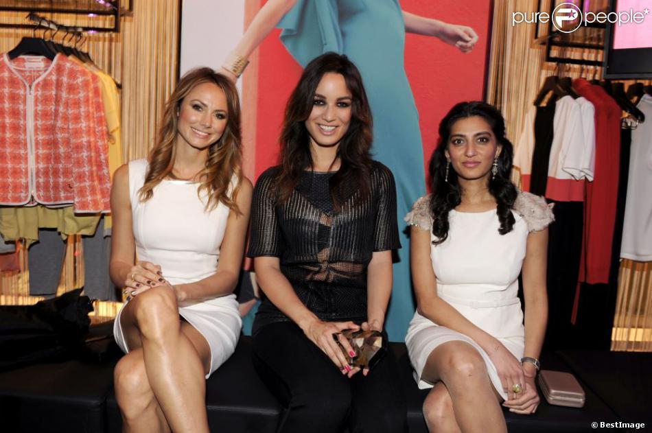 Stacy Keibler, Bérénice Marlohe et la PDG de la marque Escada Megha Mittal célèbrent l'ouverture de la boutique Escada à Berlin, le 19 mars 2013.