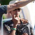Halle Berry en vacances avec sa fille Nahla et son amoureux Olivier Martinez à Hawaï, le 29 mars 2013.