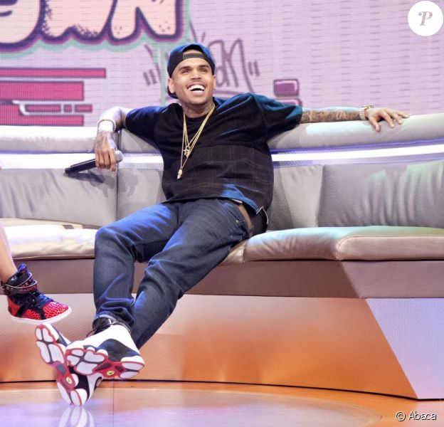 Chris Brown sur le plateau de l'émission 106 and Park à New York, le 1er avril 2013.