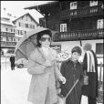 Audrey Hepburn et son fils Luca à Gstaad en décembre 1980.