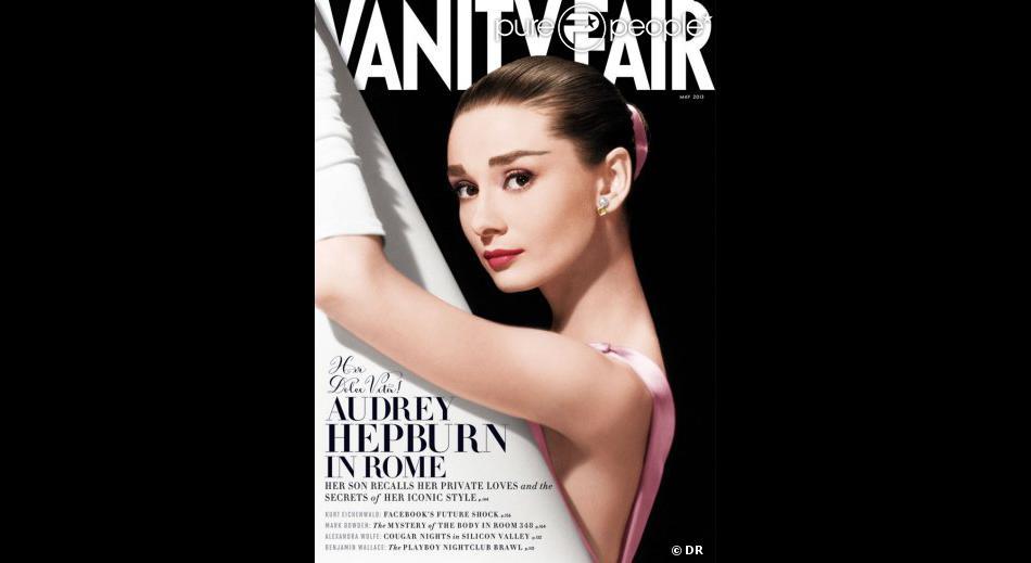 """Audrey Hepburn en couverture de """"Vanity Fair"""", mai 2013."""