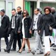 Obsèques de Gérald Babin, candidat de Koh Lanta, à Nemours, le 5 avril 2013   Les funérailles se sont déroulées en présence de l'animateur Denis Brogniart et de sa femme Hortense, du patron de TF1, Nonce Paolini, ainsi que le producteur de Koh Lanta, Franck firmin-Guion