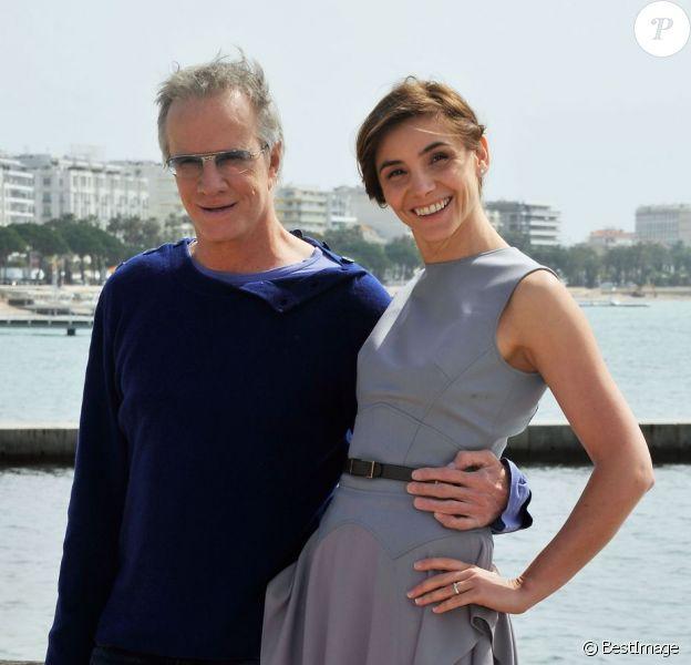 Christophe Lambert et Clotilde Courau à la 50e édition du MipTV à Cannes, le 8 avril 2013.