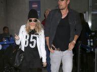 Fergie, enceinte : Jetlaggée mais lookée avec Josh Duhamel du retour du Brésil