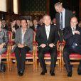 Réception du Secrétaire général des Nations unies Ban Ki-moon et son épouse Soon-taek au palais princier à Monaco, le 3 avril 2013.