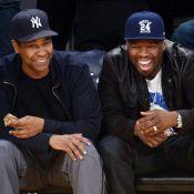 Denzel Washington et 50 Cent : Amis complices devant la victoire des Lakers